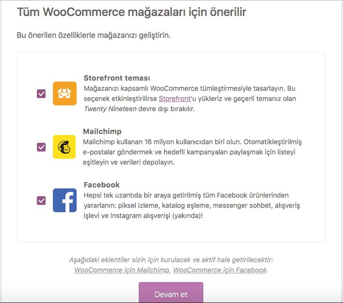eticaret, wordpress