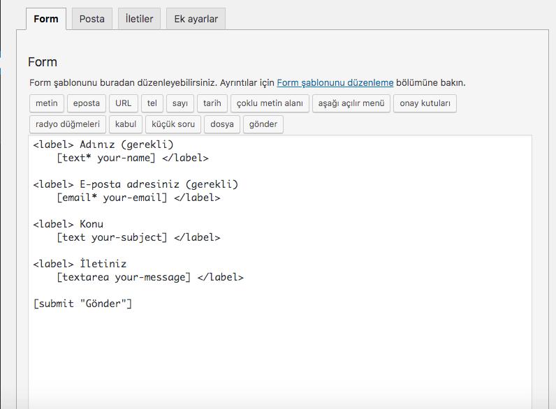 wordpress iletişim formu eklentisi