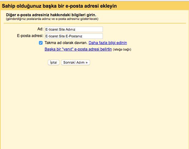 şirket mailini gmailde açma