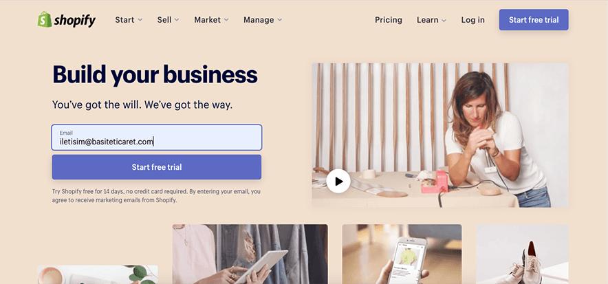 shopify mağaza kurma