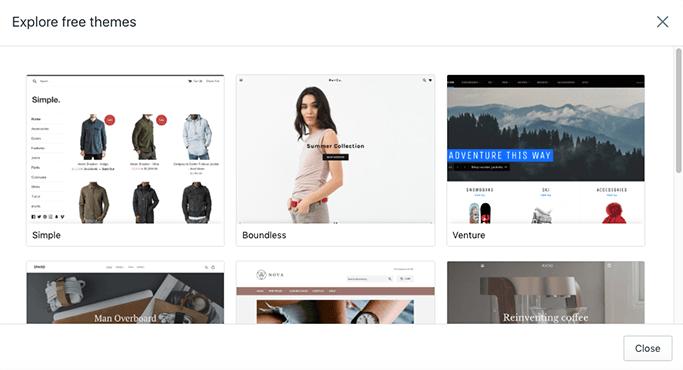 shopify temaları