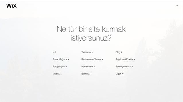 wix kullanımı