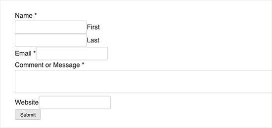 wordpress iletişim formu
